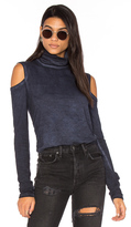 Pam & Gela Cold Shoulder Turtleneck Top
