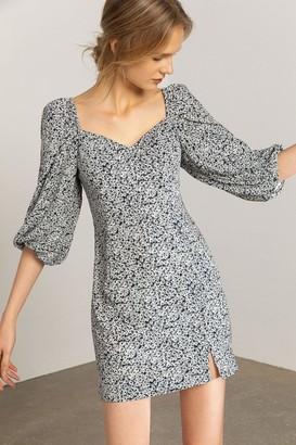 J.ING Ingrid Grey Sweetheart Dress