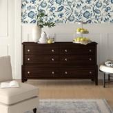 Jeffries 6 Drawer Dresser Wrought Studio Color: Cherry