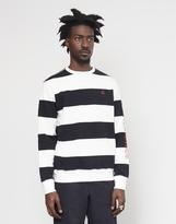 HUF Catalina Stripe Crew Sweatshirt Black