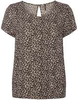 Only **Only Taupe Leopard Print T-Shirt
