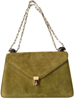 Valentino All over chain Green Suede Handbags