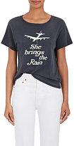 """RE/DONE Women's """"She Brings The Rain"""" Cotton T-Shirt"""