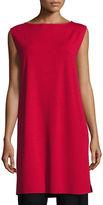 Eileen Fisher Sleeveless Bateau-Neck Jersey Shift Dress