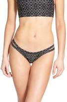 RVCA &Palm& Print Cheeky Bikini Bottoms