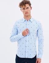 Scotch & Soda Longsleeve Shirt With Flock Print