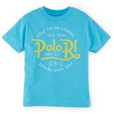 Ralph Lauren Boys 2-7 Short Sleeved Logo Tee