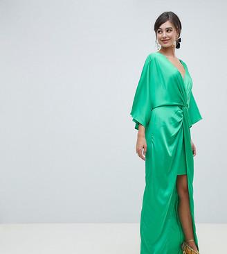 ASOS TALL Kimono Twist Front Maxi