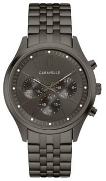 Caravelle Designed by Bulova Men's Chronograph Gunmetal Stainless Steel Bracelet Watch 41mm