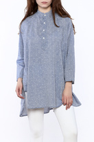 P.S. Shirt Chambray Dotted Swiss Top