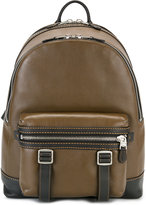 Coach buckled backpack - men - Leather - One Size