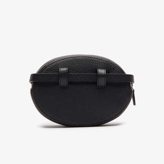 Lacoste Women's Croco Crew Grained Leather Oval Belt Bag