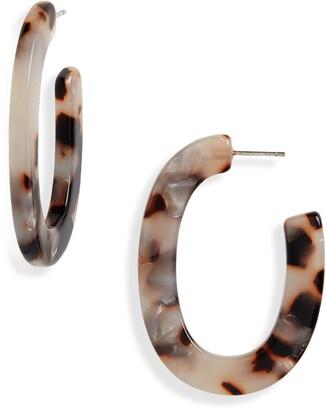 Madewell Acetate Oval Hoop Earrings