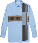 Comme Des Garçons Shirt - Patchwork Cotton-poplin, Jacquard And Jersey Shirt
