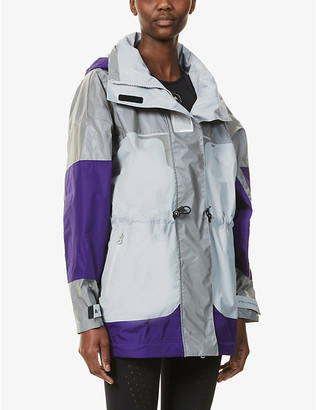 adidas by Stella McCartney High-neck reflective recycled polyester jacket