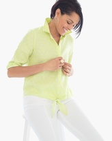 Chico's Linen Dot Lidia Shirt