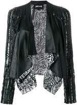 Just Cavalli open front print jacket