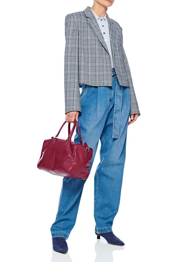 Tibi James Menswear Check Cropped Blazer