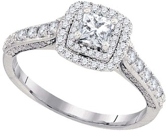 Cosanuova Princess Solitaire Engagement Anniversary Ring in 14kt White Gold