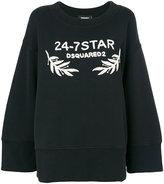 DSQUARED2 oversized 24-7 Star sweatshirt - women - Cotton - XS