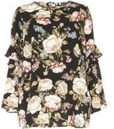 Dorothy Perkins Womens DP Curve Plus Size Vintage Floral flute- Black