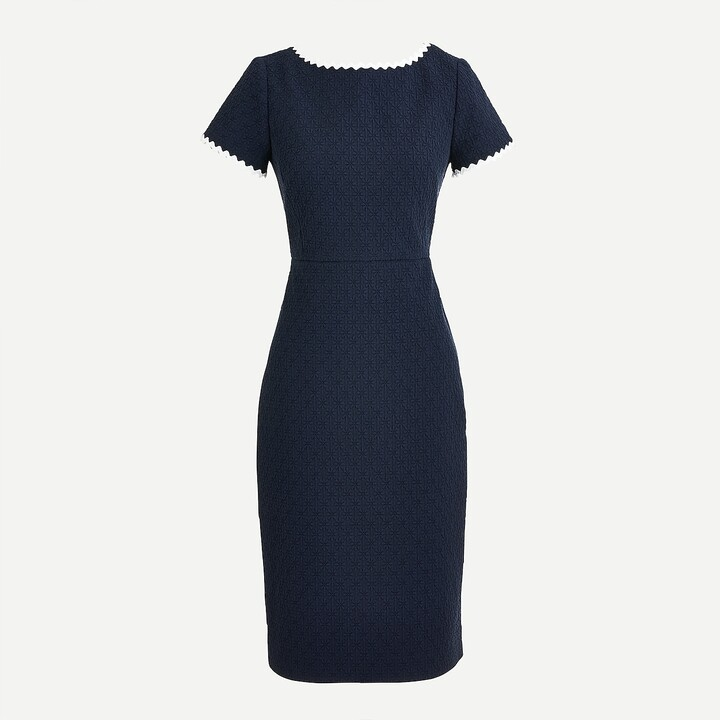 Thumbnail for your product : J.Crew Petite sheath dress in daisy matelassé