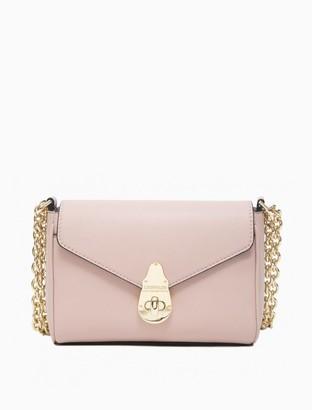 Calvin Klein Lock Leather Small Chainlink Crossbody Bag