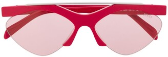 Emilio Pucci Geometric Frame Print Sunglasses