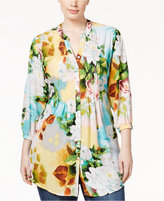 Melissa McCarthy Trendy Plus Size Printed Tunic Shirt
