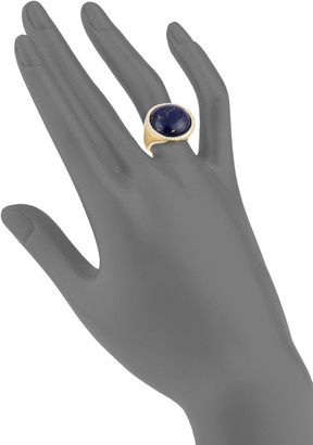 Effy 14K Yellow Gold, Lapis & Diamond Cocktail Ring