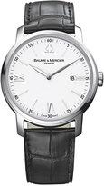 Baume & Mercier Men's Swiss Classima Black Leather Strap Watch 42mm M0A08485