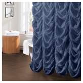 Lush Decor Madelynn Jean Ruffle Shower Curtain