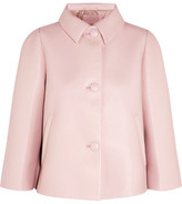 Prada Cropped Leather Jacket - Baby pink