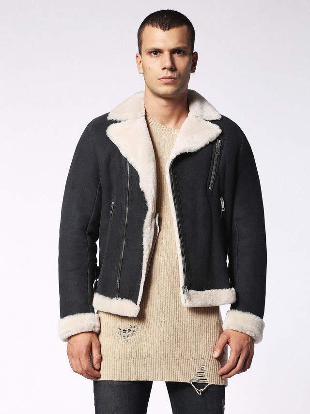 Diesel Leather jackets 0LAQT - Black - L