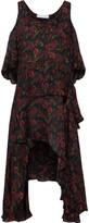IRO Yvana Cold-Shoulder Ruffled Floral-Print Silk Crepe De Chine Dress