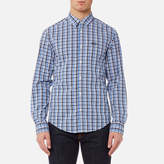 BOSS GREEN Men's CBuster Multi Checked Shirt - Blue
