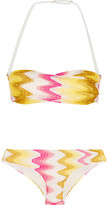 Missoni Mare Crochet-knit Bandeau Bikini - Yellow
