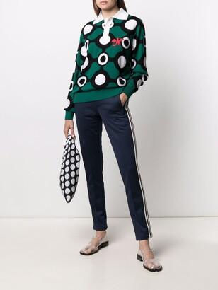 Charles Jeffrey Loverboy Intarsia-Knit Polo Shirt