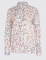 Classic Floral Print Long Sleeve Shirt