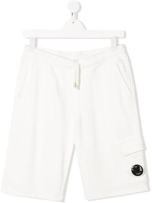 C.P. Company Kids TEEN Lens-embellished track shorts