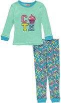 "1000% Cute Little Girls' Toddler ""Cute Cupcake"" 2-Piece Pajamas"