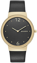 Skagen Women&s Freja Genuine Leather Strap Watch