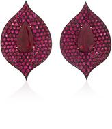 Bayco One-of-a-Kind Ruby & Diamond Earrings