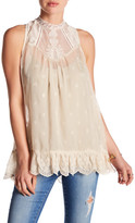 Johnny Was Lace Detail Tank