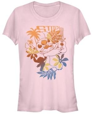 Fifth Sun Women's Disney Lilo Stitch Aloha Stitch Short Sleeve T-shirt