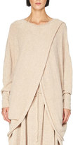 Stella McCartney Knit Overlap Dolman-Sleeve Sweater, Light Pink
