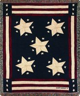 Manual Woodworker Manual Patriotic Collection 50 x 60-Inch Tapestry Throw, Long May It Wave X Cindy Shamp