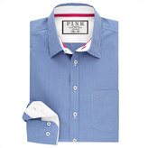 Thomas Pink Longitude Check Slim Fit Button Cuff Shirt