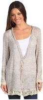 Gabriella Rocha Audrie Button Up Cardigan (Taupe) - Apparel