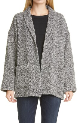 Eileen Fisher Shawl Collar Organic Cotton Jacket